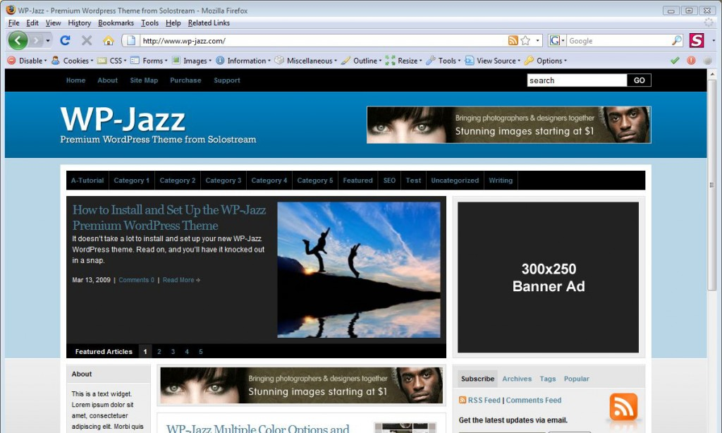WordPress Theme: WP-Jazz